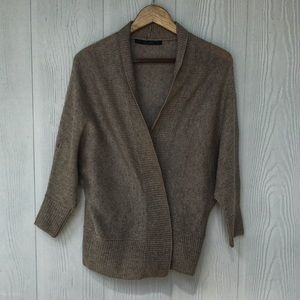 Zara Knit Cardigan in Grey, Small